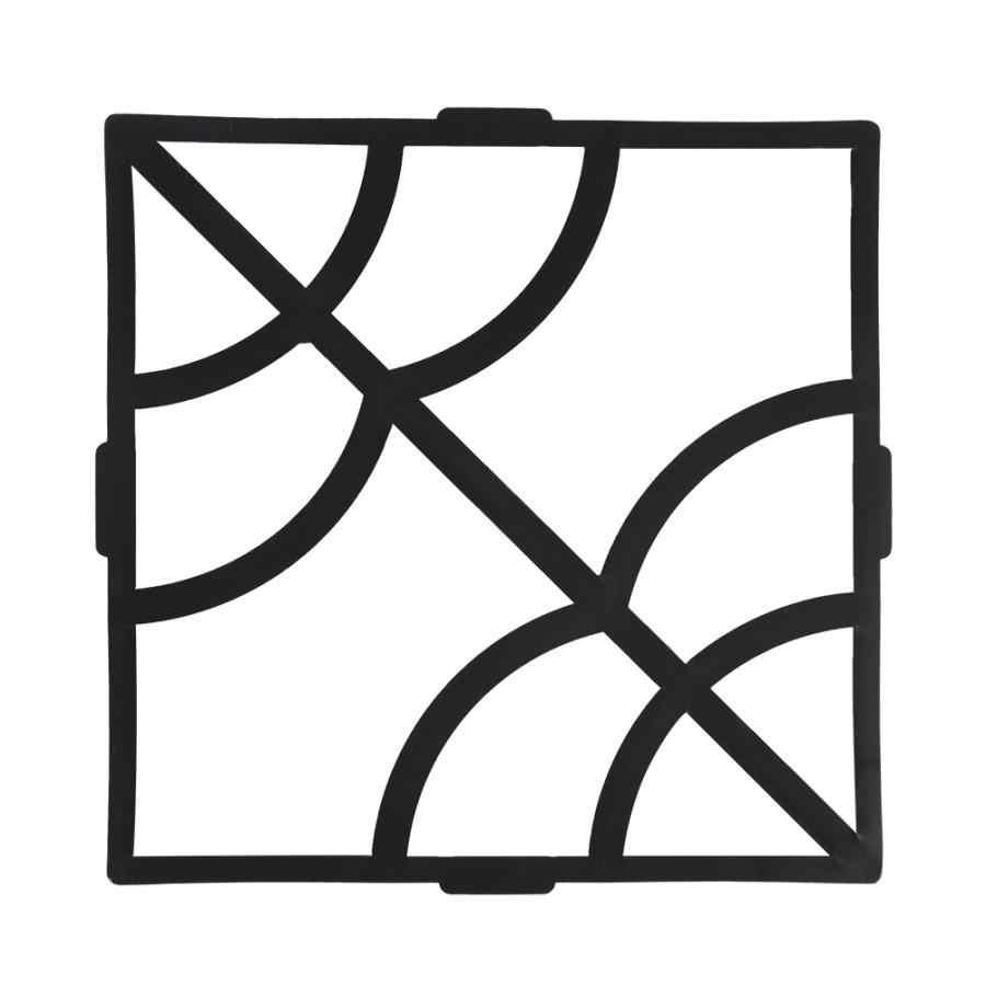 Черный делая своими руками тротуарный плесень домашний сад пол дорога бетон шаговый подъездной путь каменная дорожка форма патио производитель дорожные бетонные формы