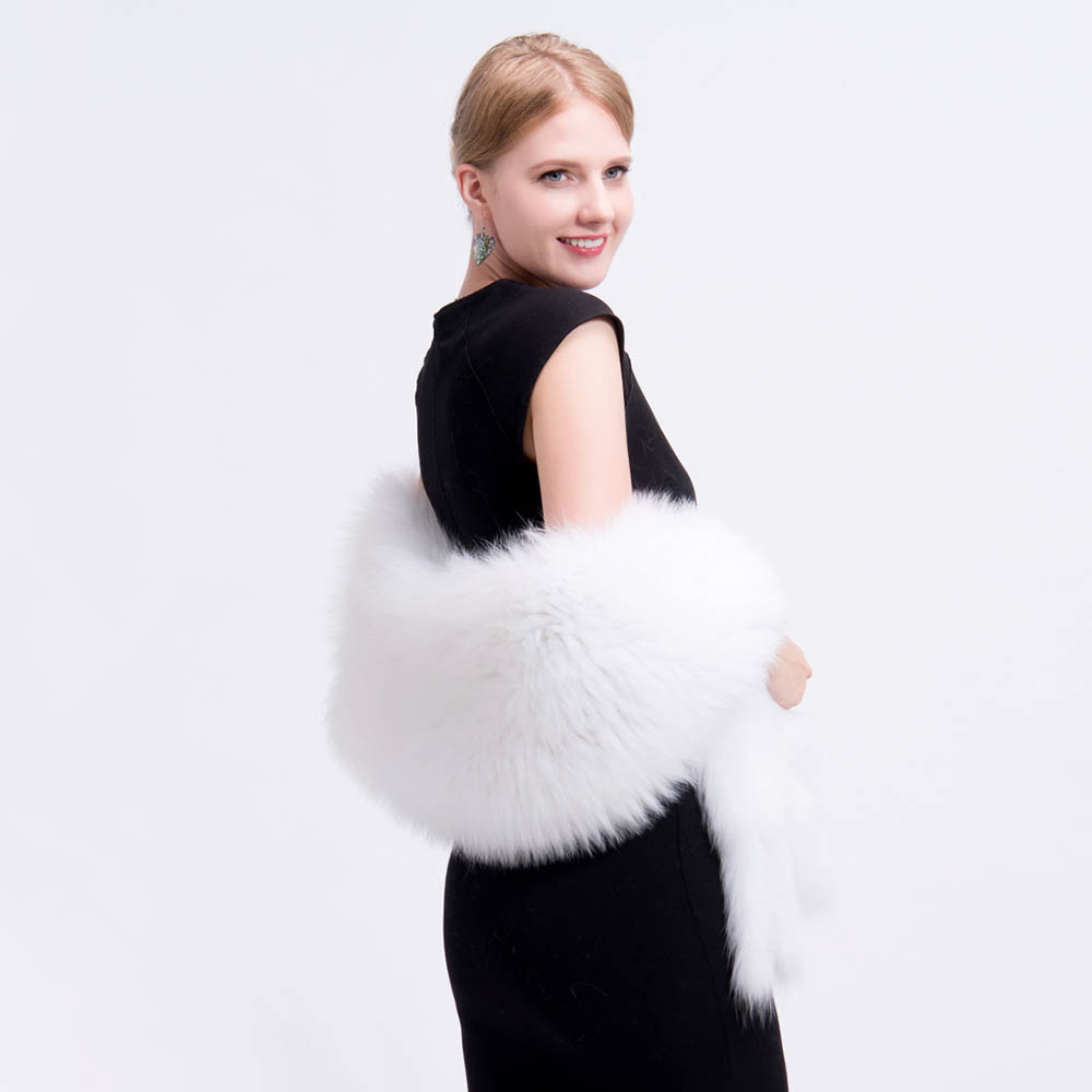 knit fox fur shawl 5