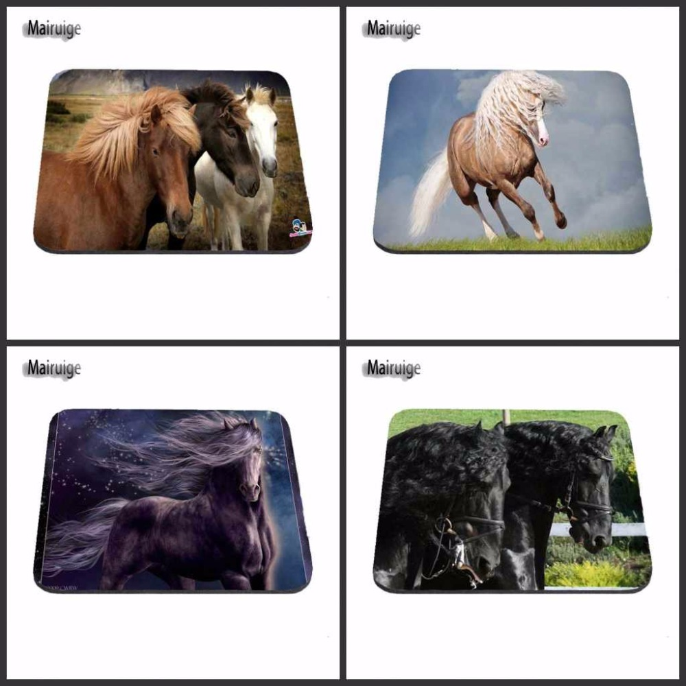 Rubber mats dog run - Horses Running In The Grass 2017 New Desgin 18 22cm And 25 29cmand 25 20cm Gaming Rubber Mouse Pad Mat Comfort Mice Pads