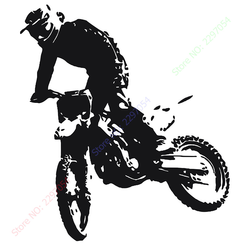 Motocross Moto Dirty Bike Motorbike Wall Art Sticker Decal Home DIY  Decoration Decor Wall Mural Removable Room Decal Stickers