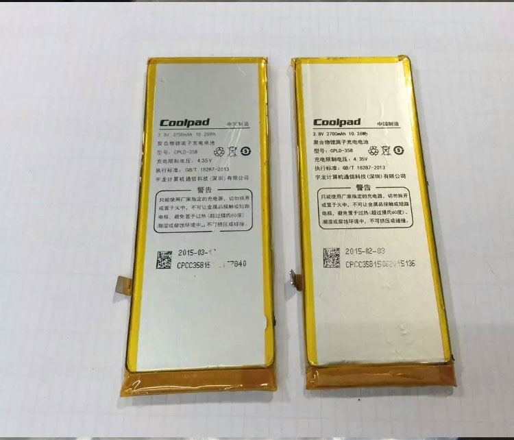 For Coolpad High Quality Original CPLD-358 X7 8691-00 8690-T00 mobile phone battery 2700mah Replacement Parts