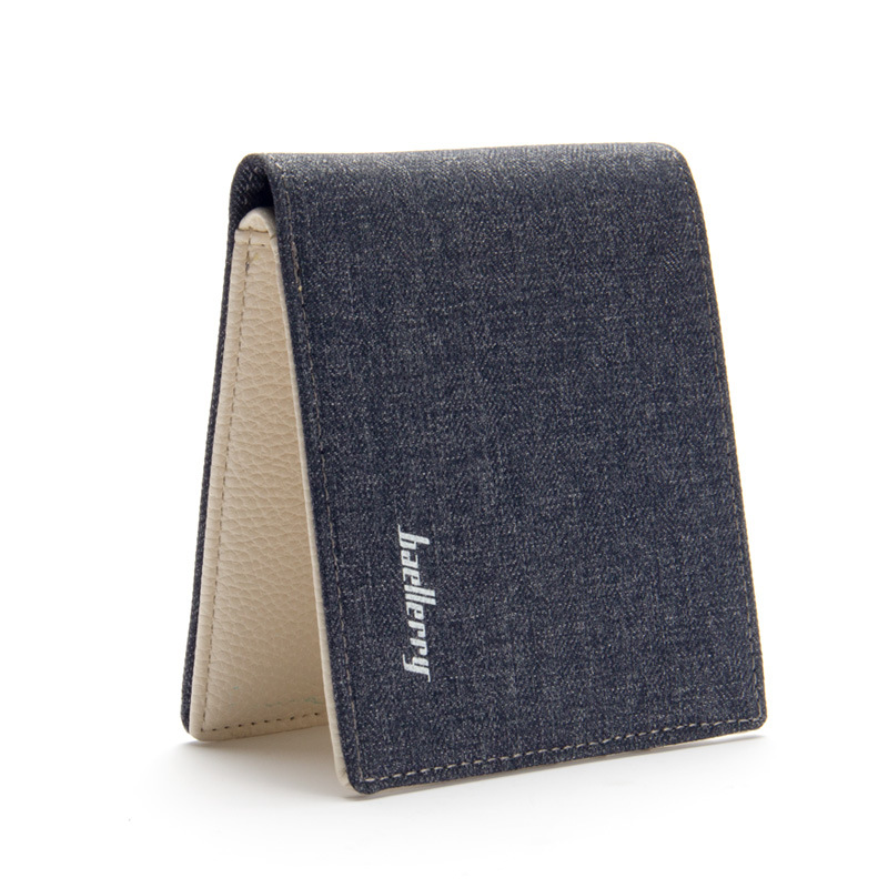 Baellerry Casual Men Canvas Slim Short Wallet Money Coin Purses Student Billfold With Coin Pocket Credit Card Holder Cover Clip genuine leather brand baellerry men cow leather short wallet coin purses male billfold money pocket credit card holder carteira