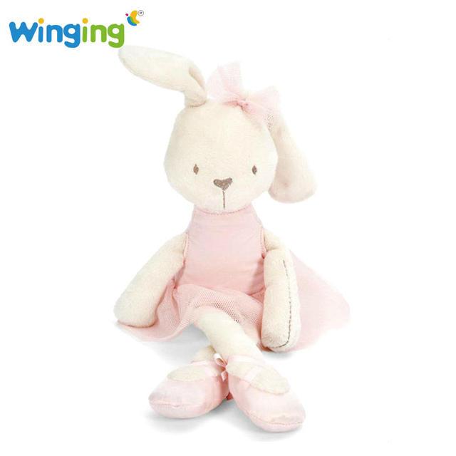 44cm Cute Baby Rabbit Sleeping Doll Pink Comfort Stuffed Animals