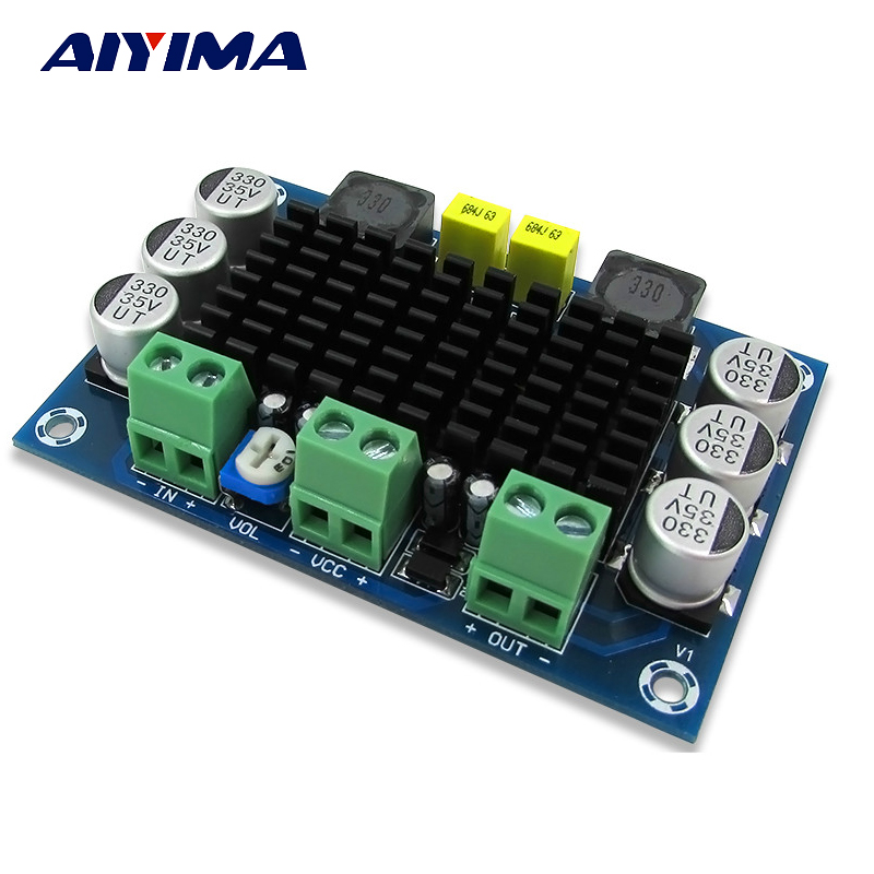 Aiyima TPA3116D2 Digital Audio Amplifier Board Mono 100W Amplifiers DC12-26V Amplificador DIY aiyima 12v tda7297 audio amplifier board amplificador class ab stereo dual channel amplifier board 15w 15w