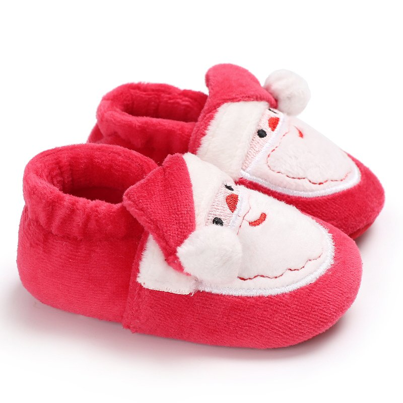 2018 Kacakid Lovely Christmas Party Toddler Infant Newborn Santa Claus Soft Sole First Walkers Prewalkers Girl Boy Baby Shoes Y6