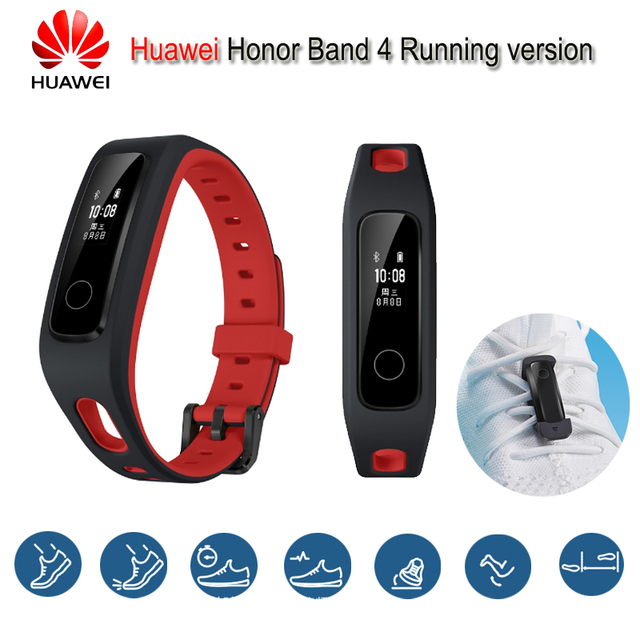 Original Huawei Honor Band 4 Running Version Smart Wristband Shoe-Buckle Land Impact Sleep Snap Monitor