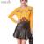 Runway 2017 das Mulheres da Marca Outono Inverno Floral Pássaro Bordado Suéter de Cashmere + PU Saia De Couro Falso Two Pieces Set vestidos