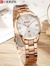 CURREN Top Luxury Brand Women Quartz Watch Ladies wristwatches relogio feminino Rose Gold Fashion Women Clock Wrist Watches