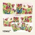 YZWLE 2016 Venda Quente Pintado Borboleta Nail Art Decalques Transferência de Água Stickers, Manicure Ferramenta Decor Capa Envoltório Prego Decalque