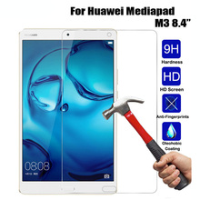 Anti-Shatter Transparent Real Tempered Glass For Huawei Mediapad M3 8.4 Inch Tablet Screen Protector Protective Film 9H HD