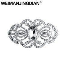 WEIMANJINGDIAN épingles à broche en strass plaqué, couleur argent, décoration artistique, pour femmes ou Bouquets de mariage