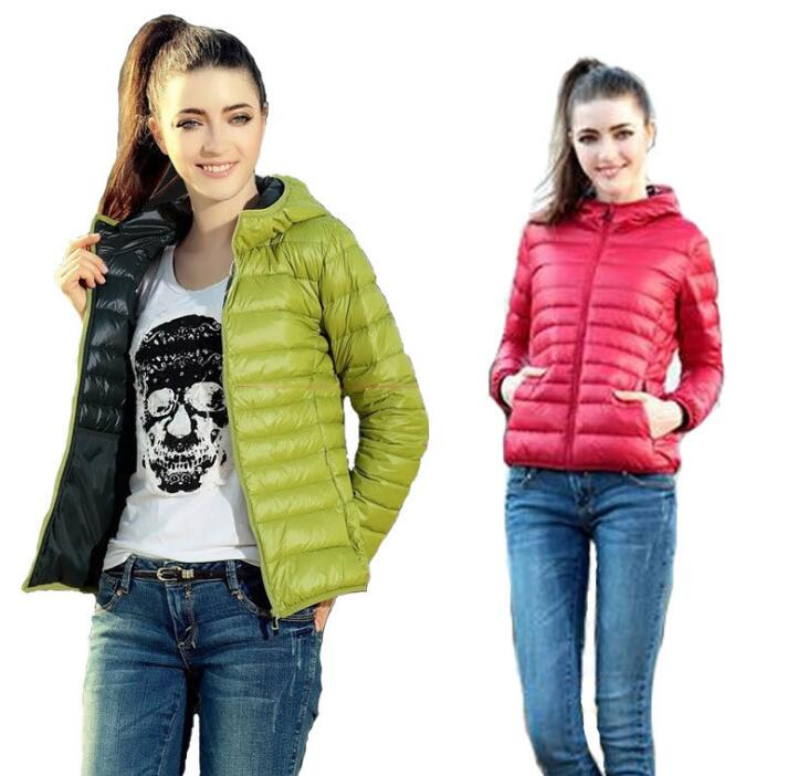 Winter Women Jacket Casual Warm Hooded Down Cotton Padded Female   Parkas   Slim Outwear Lightweight Fashion 2018 Clothing XS-5XL