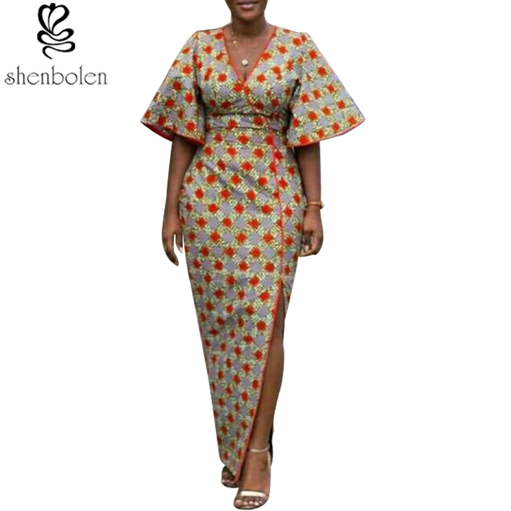 2018 summer african the new fashion able classical elegance sexy dress print African women specially designed clothes