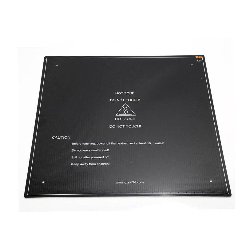 Imprimante 3D pièces noir MK3 hotbed aluminium lit chauffant pour CR-10 Hot-bed 12 V 410x410x3mm option