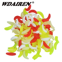 50Pcs/lot Worm Soft Bait 20mm 0.5g Fishing Lure Swimbait Silicone Soft Lure Wobblers Artificial Bait for Fishing Peche FA-366