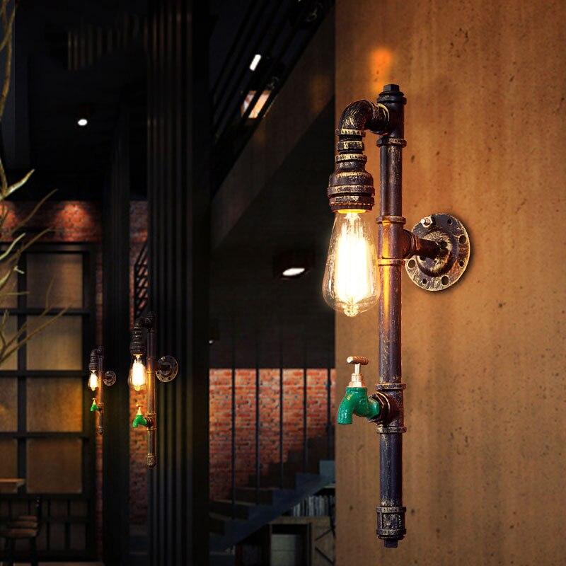 Винтаж Ретро лампа личность лестничный пролет водопровод погреб кафе настенный светильник лестницы склад Офис Бар клубный свет бюстгальте...