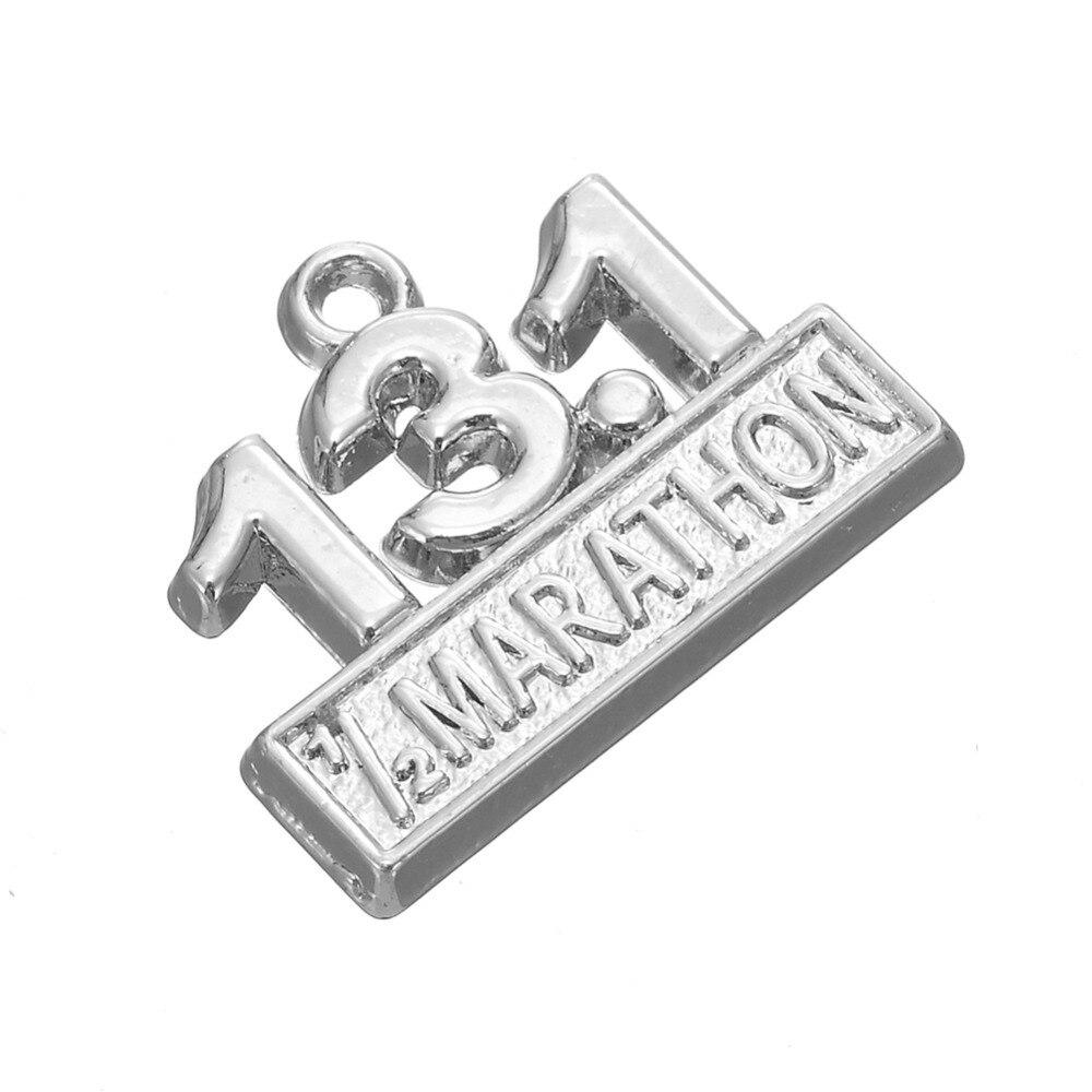 Pendentif charm pour supplie Bracelet cheval argent métal 20 mm 2373