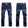 New Casual Blue Mens Jeans 501 Stretch Regular Straight High Elasticity Feet Denim Jeans Trousers for Man
