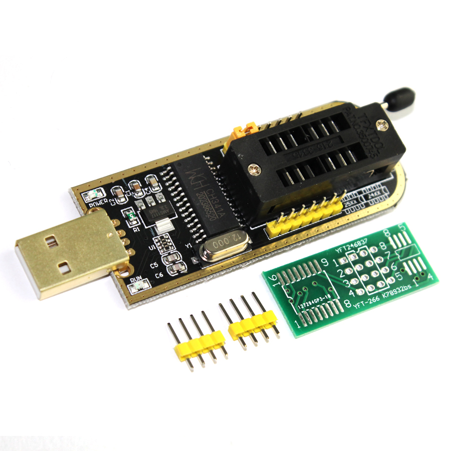 CH341A 24 25 Series EEPROM Flash BIOS USB Programmer with Software Driver for CH341A CH341 Module USB to TTL 5V-3.3V