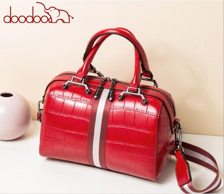 DOODOO Original New Women Fashion Boston PU  Leather Fashion Shoulder bag Panelled bolsas feminina FR567DOODOO Original New Women Fashion Boston PU  Leather Fashion Shoulder bag Panelled bolsas feminina FR567