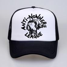 VTG 80s ANTI NOWHERE LEAGUE PUNK ROCK SKINHEAD Oi! TOUR CONCERT Baseball caps Mens 2018 fashion Brand Mesh trucker cap