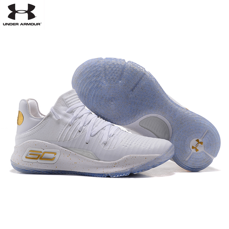 Under Armour UA Men Curry 4 Light Sport Basketball Sneakers Outdoor Low Top Athletic Unique Socks Design Cushioning Shoes 40-46