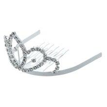 Серебряный Позолоченный Rhinestone Кристаллическое Лотос Люкс Тиара Волосы Расческой Pin Свадьба