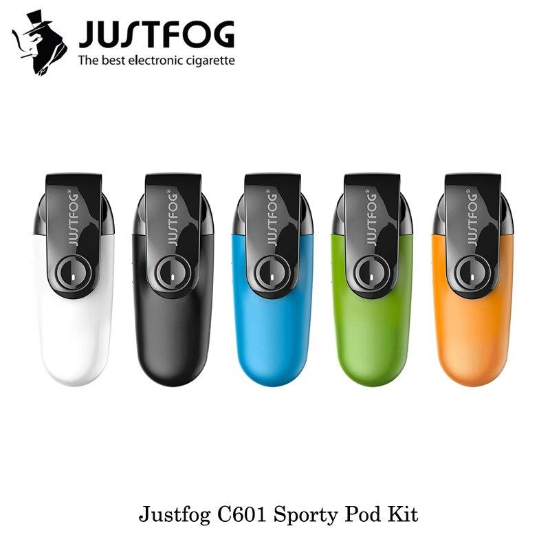 Cigarettes électroniques Justfog C601 Sportif Pod Starter Kit 1.7 ml Capacité 670 mah Avec 1.6ohm Intégré Bobine VS Eleaf ijust 3 Kit