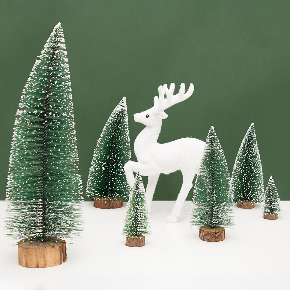 Mini Christmas Tree Snowflakes Ornaments New Year Wedding DIY Home Birthday Decor Gift Party Table Decoration 62282 In Trees From Garden On