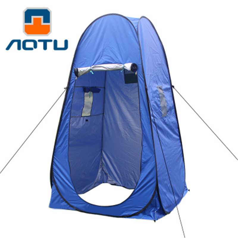 Portable Camping Shower Toilet Tent Shelter Waterproof Outdoor Shower Tent Privacy Change Fitting Bathroom Pop Up Mobile Toilet outdoor double layer 10 14 persons camping holiday arbor tent sun canopy canopy tent