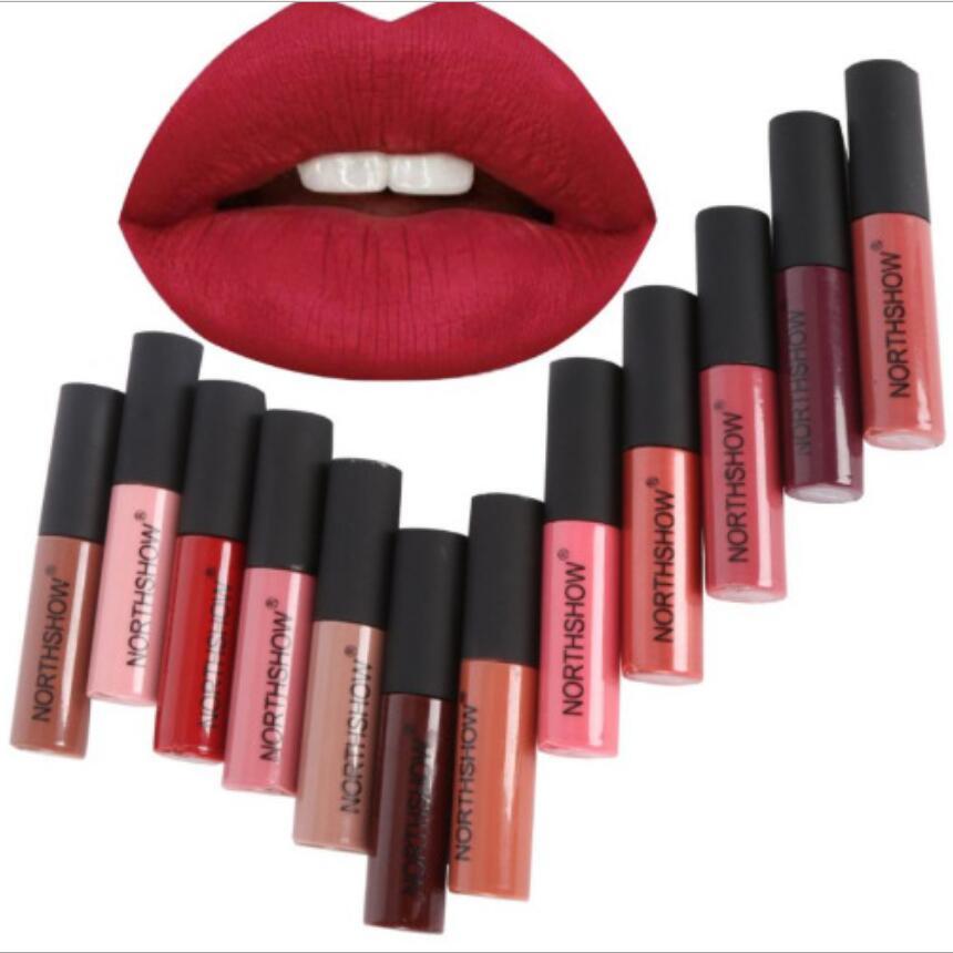 60 pièces/100 pièces vente chaude liquide mat rouge à lèvres étanche rouge à lèvres longue durée Batom maquillage crayon Batons couleur nue Labiales