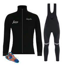 2019 Spring/autumn New Black Long Sleeve Cycling Jersey Set Bib Pants Ropa Ciclismo Bicycle Clothing MTB Bike Jersey Men Clothes arsuxeo tight running clothes cycling long sleeve jersey set wicking ciclismo ropa mtb clothing fitness long jersey sets for men