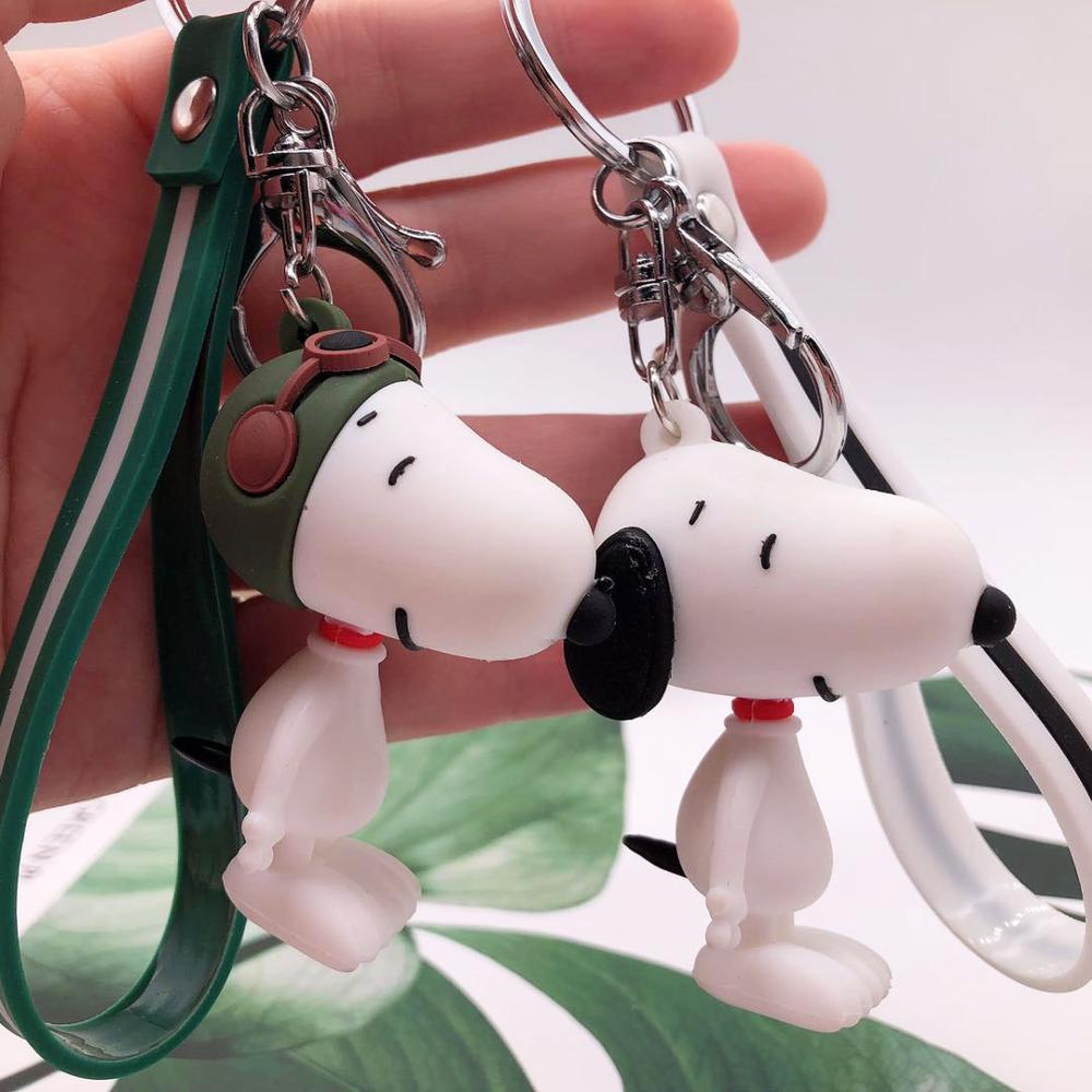 High Quality 2019 New Bulldog Keychain Pu Leather Animal Dog Keyring Holder Bag Charm Trinket Chaveiros Bulldog Bag Accessor