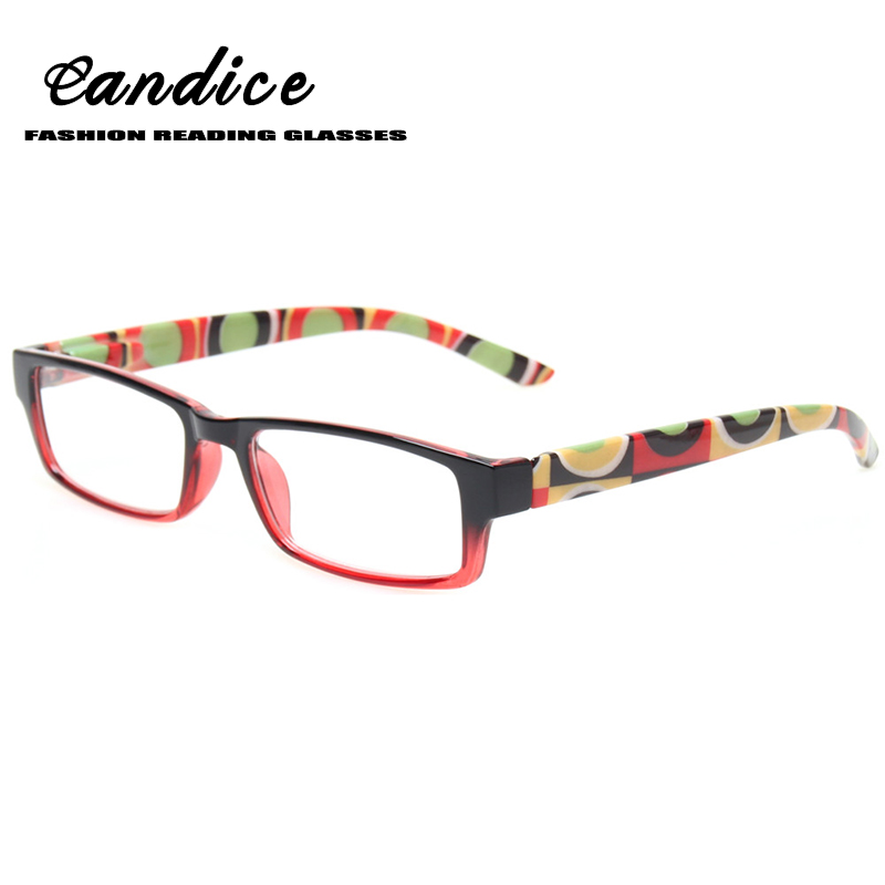 fashion Retro Square Frame Reading Glasses Men and Women Flexible Temple Readers Plastic Material four Colors Presbyopia Glasses