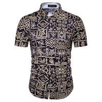 Brand Hot Sale Fashion Shirts 2017 Summer Men Shirt Short Sleeve Casual Slim Man Shirts Plus