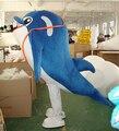Огромный стиль дельфин костюмы талисмана синий рыбы костюмы