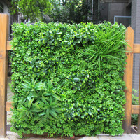 Artificial Boxwood Panels Hedge Wall Privacy Screen Topiary Plant 1x1m Greeny Walls DIY Mats Fencing Backyard Garden Decoration