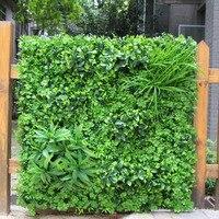 Sztuczny Bukszpan Panele ogrodzenia Żywopłot Ścianie Ekran Prywatności Topiary Roślin 1x1 m Greeny Ściany DIY Maty Przydomowego Ogrodzenia Ogród dekoracji
