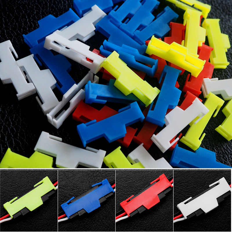 50pcs/lot Servo Extension Cable Buckle Clip Plastic Servos Cord Fastener Jointer Plugs Fixing Holder for DIY RC Airplane Parts