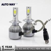 Car Light S2 H4 H7 H1 COB LED Headlight Bulbs H11 H13 12V 9005 9006 H3