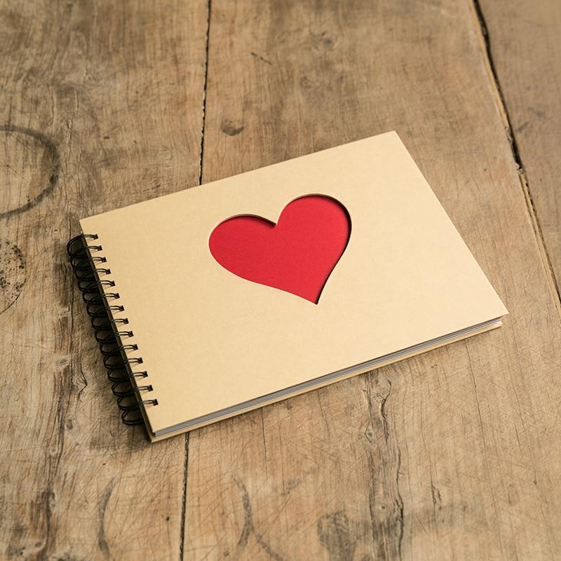 Wire Binding Love Album Diy Sticky Album Stamp Ticket Collection Gift Girlfriend Bf Teacher Gift Story Photo Wedding Albums