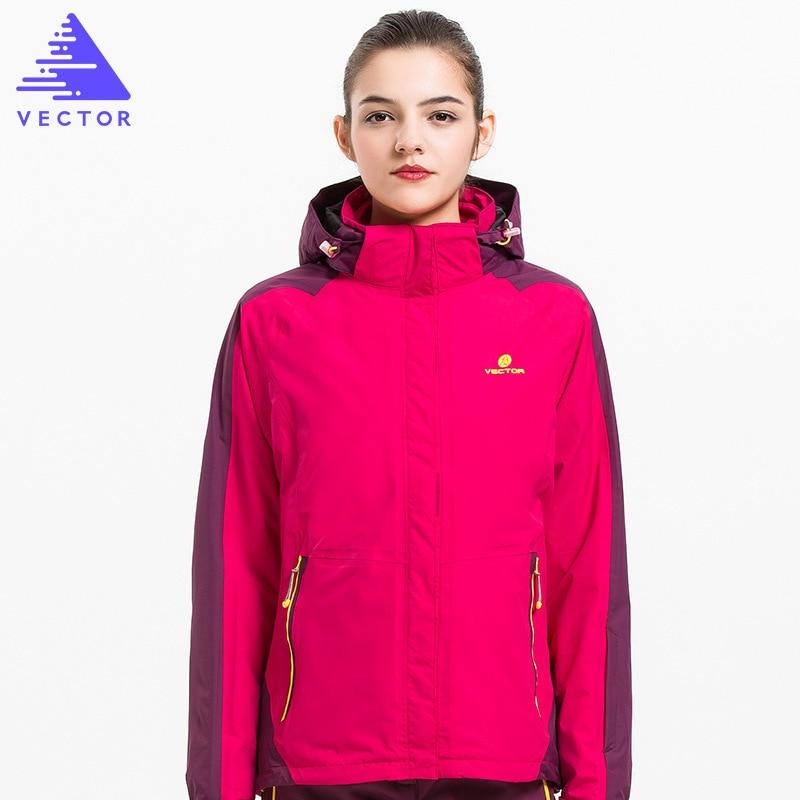 VECTOR Warm Winter Outdoor Rain Jacket Women Windproof Waterproof  Mountaineering Climbing Camping Hiking Jacketes 60020