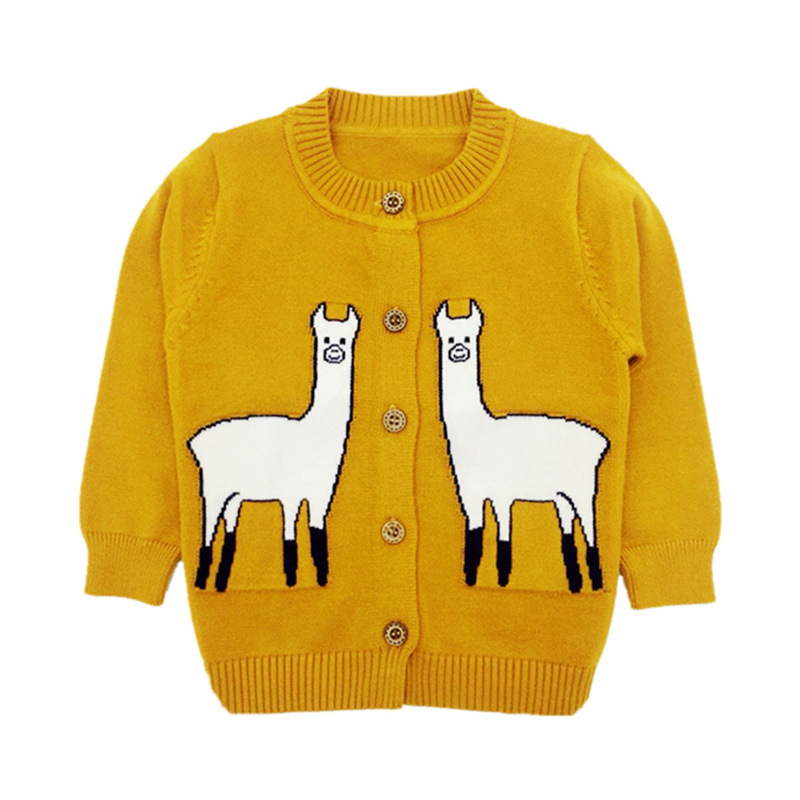 Cartoon Alpaca Knit Sweater For Kids