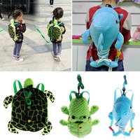 Cute Animal Children Anti lost Backpack Tie Button Buckle Zipper Basic Skill Learning Toy School Bag for Kids Baby Toddler