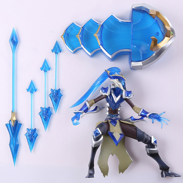 LOL League of Legends figure Action Game Kalista Model Toy action-figure 3D Game Heros anime party decor boy Creative Gift 2