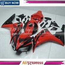 Подходит для Honda CBR1000RR 2006 2007 CBR1000 RR ABS мотоцикл обтекатель комплект кузов CBR 1000RR 06 07 CBR 1000 RR черный и красный