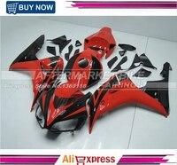 Подходит для Honda CBR1000RR 2006 2007 CBR1000 RR ABS для мотоциклов обтекателя Kit Кузов CBR 1000RR 06 07 CBR 1000 RR черный и красный