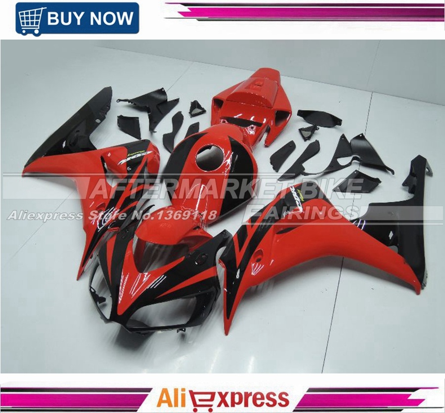 Fit for Honda CBR1000RR 2006 2007 CBR1000 RR ABS Motorcycle Fairing Kit Bodywork CBR 1000RR 06 07 CBR 1000 RR Black & Red injection mold fairing for honda cbr1000rr cbr 1000 rr 2006 2007 cbr 1000rr 06 07 motorcycle fairings kit bodywork black paint