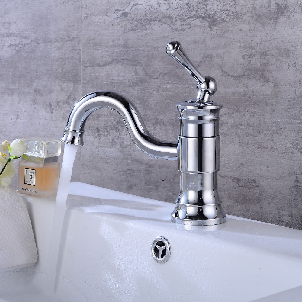 Basin Faucets Single Handle Chrome Brass Faucet Hot Water and Cold Water Sink Faucet Mixer Taps Bathroom Faucet Lavatory MixerBasin Faucets Single Handle Chrome Brass Faucet Hot Water and Cold Water Sink Faucet Mixer Taps Bathroom Faucet Lavatory Mixer