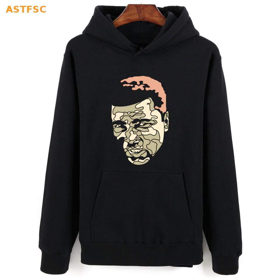 New Fashion MUHAMMAD ALI Print Hooded Hoodies Men Luxury for Winter Autumn in 4XL Mens Hoodies